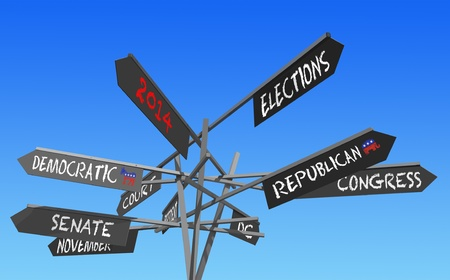 rightwing: election 2014 choice conceptual post Stock Photo