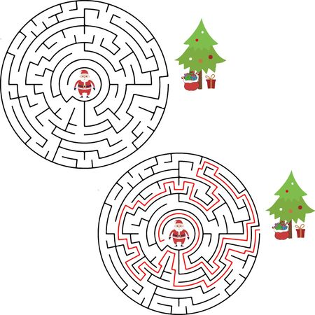Winter Maze Labyrinth Game with answer