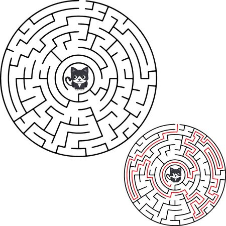 Vector labyrinth. Maze Labyrinth with entry and exit