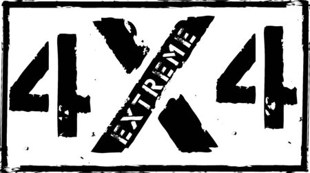4x4 off-road emblem. Extreme Suv   vector illustration stamp