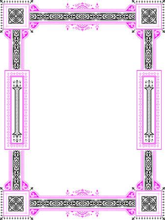 engraved: Vector border for illustration, appearance and design Illustration