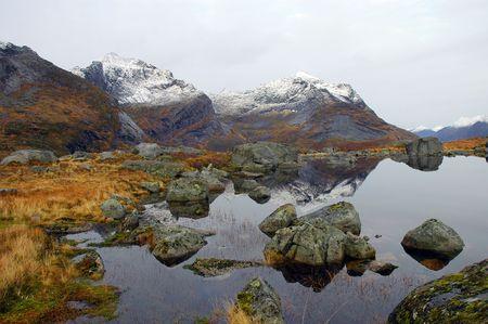 Lofoten in Norway, autumn photo
