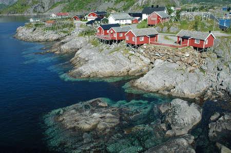 Lofoten Norway fjord scenic in summer photo