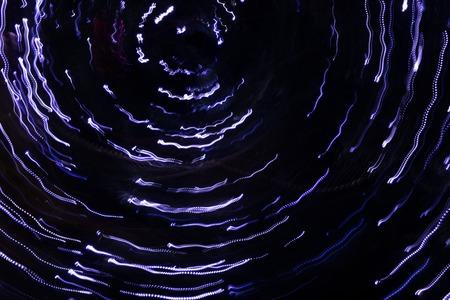 hypnosis: Light beams from garland.