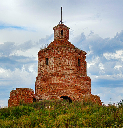 broken hill: old ruined church Stock Photo