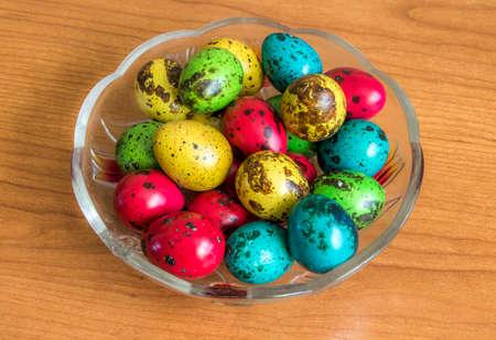 codorniz: huevos de codorniz de Pascua Foto de archivo