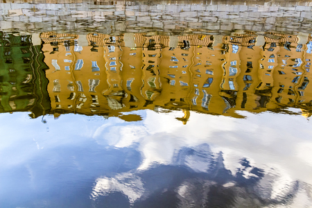 townhouses: townhouses reflected in the water