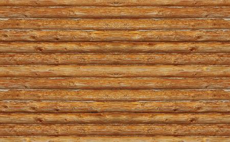 Wooden log wall. Standard-Bild