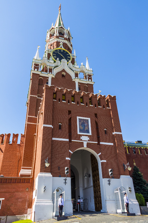 spassky: MOSCOW, RUSSIA - JULY 26, 2015: Moscow Kremlin on Red Square Editorial