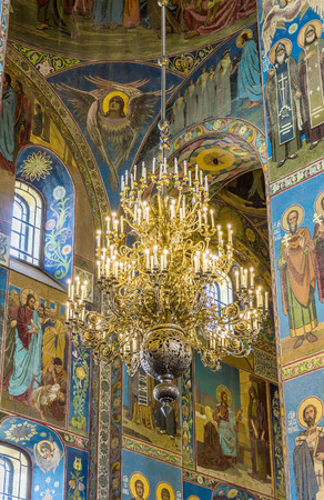 liberator: ST PETERSBURG, RUSSIA - JULY 28, 2015: Church of the Savior on Spilled Blood Cathedral of Resurrection. It is an architectural landmark of city and a unique monument to Alexander II the Liberator.