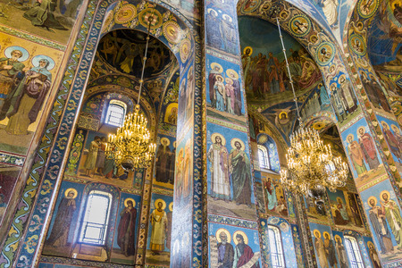 the liberator: ST PETERSBURG, RUSSIA - JULY 28, 2015: Church of the Savior on Spilled Blood Cathedral of Resurrection. It is an architectural landmark of city and a unique monument to Alexander II the Liberator.