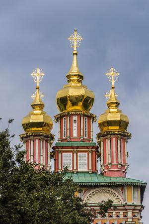 gold cross: Kremlin in the city of Sergiev Posad