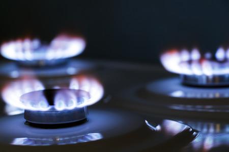 luz natural: estufa de gas del quemador Foto de archivo