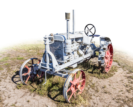 disused: Old disused tractor