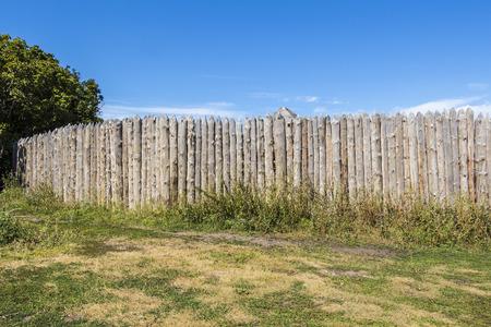 trespass: Wooden rural fence