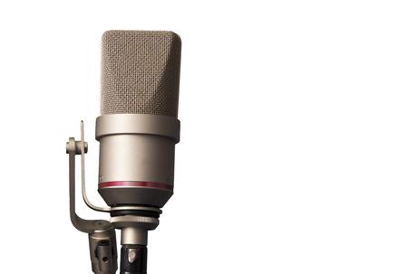 estudio de grabacion: micrófono de estudio en el estudio de grabación Foto de archivo