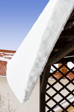 gazebo: Snow slides off the roof gazebo