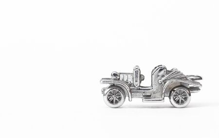motorized: Metal model of the ancient car
