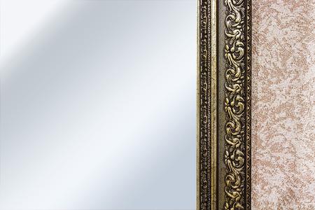 mirror frame: Part of the mirror frame Stock Photo