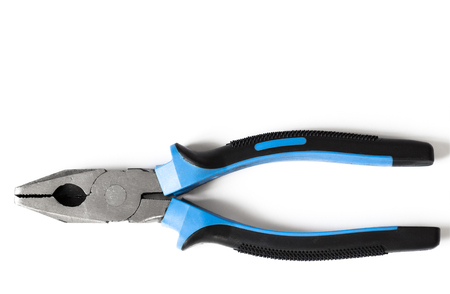 handles: Pliers with plastic handles Stock Photo