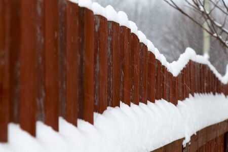 lath in modern: Red wooden fence