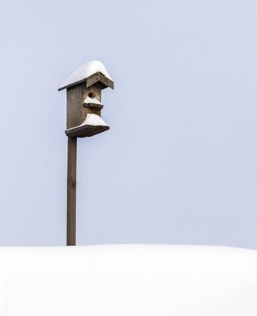 yard stick: Birdhouse on a stick