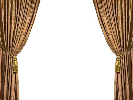 performing arts event: Beautiful curtain close-up Stock Photo
