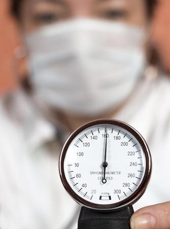 preasure: Doctor showing blood pressure