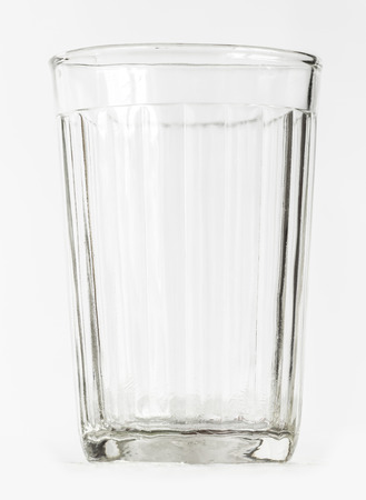 thick: Empty thick glass tumbler