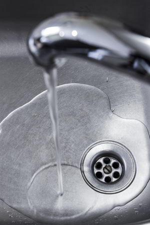 Drain hole in the kitchen sink