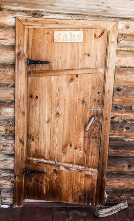 wood door: Old wooden door