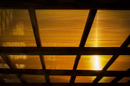 lucidity: The roof of the veranda of orange polycarbonate