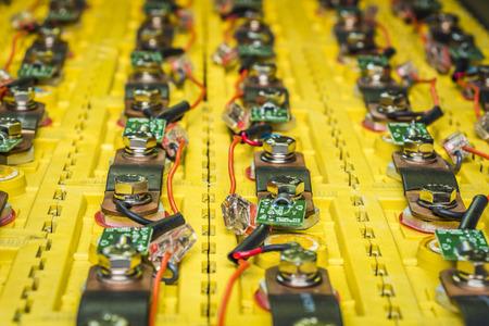 Rechargeable batterie LiFePo4 installé dans la voiture électrique gros plan