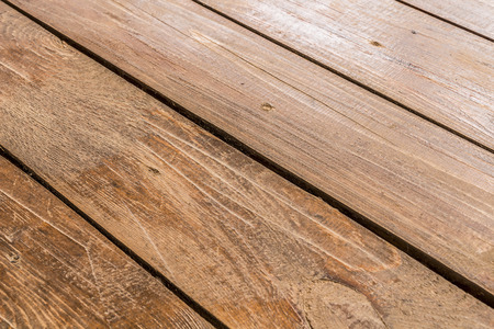 floorboards: Brown on the veranda floorboards close up as background Stock Photo