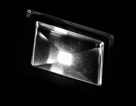 Tuin LED-spot 's avonds verlicht close-up