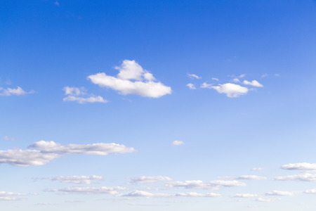stratus: White big clouds on background of blue sky Stock Photo