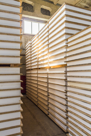 sip: The SIP panels for the construction of houses stacked close-up Stock Photo