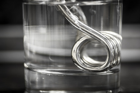 metal filament: The heating coil heats the water in the beaker to boiling.