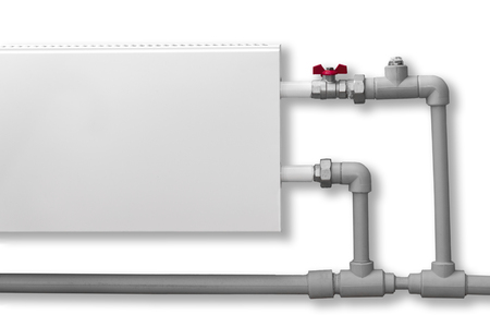 Single-pipe system to connect a private home heating radiator.