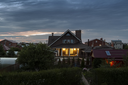 A quiet summer evening in the village. Stockfoto