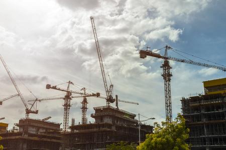 Bau von Hochhäusern und Büros.