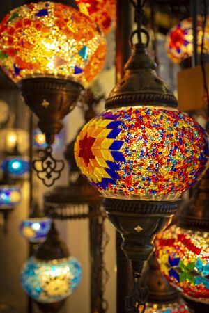 Different lamps for the interior in oriental style.