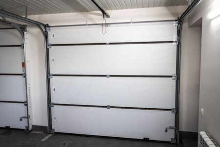 Automatic garage doors. View from the garage.