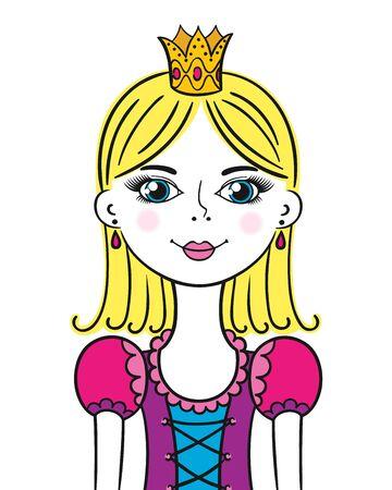 Roztomilý legrační malá princezna