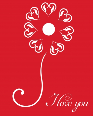 Šťastný Valentines Day karta se srdcem