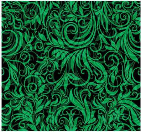 Ručně tažené květinové bezproblémové vzorek Ilustrace