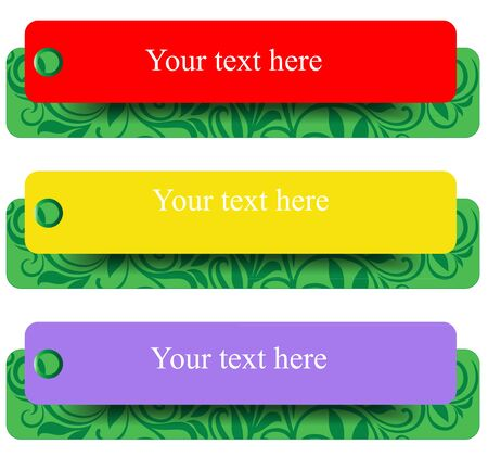 A set of colorful banners