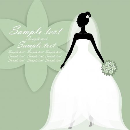Krásná mladá nevěsta