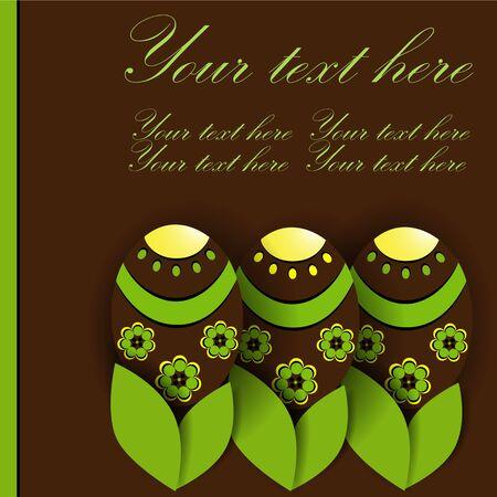 Creative pohlednice s velikonoční vajíčka