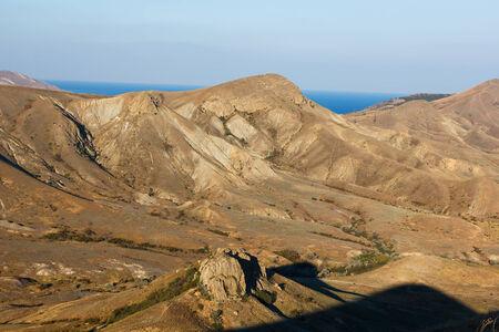 tableland: Ridge Biyuk-Anychar in the evening, Koktebel, Crimea